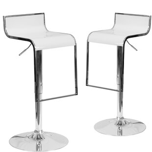 Bargain Nempnett Thrubwell Adjustable Height Swivel Bar Stool (Set of 2) by Orren Ellis Reviews (2019) & Buyer's Guide