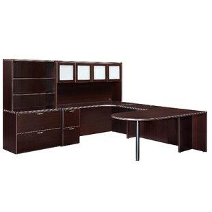 Fairplex 4-Piece L-Shape Desk Office Suite by Flexsteel Contract