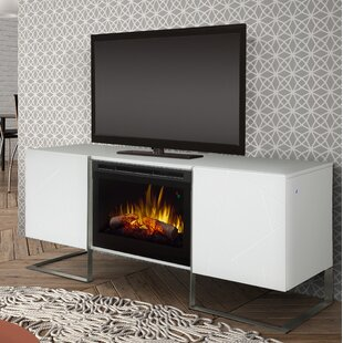 Reviews Chase TV Stand for TVs up to 75 with Fireplace By Dimplex
