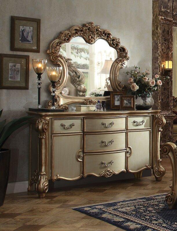 Andrew Home Studio Koios Dresser With Mirror