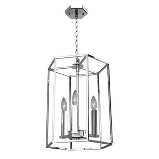 Everly Quinn Gayatri 3-Light Geometric Chandelier