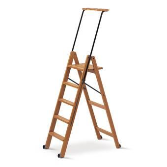 Symple Stuff Hardiman 64 Ft Wood Step Ladder With 250 Lb Load Capacity Reviews Wayfair