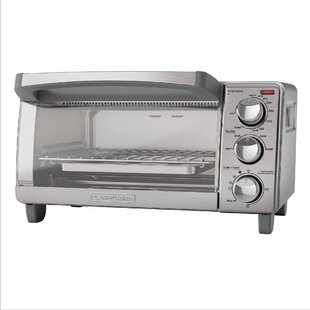 4-Slice Stainless Steel Toaster Oven with Natural Convection