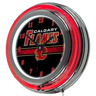 NHL Neon 14.5 Wall Clock ByTrademark Global