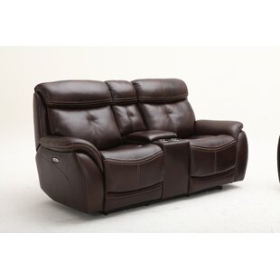 Homerun Leather Reclining Loveseat by Sou..