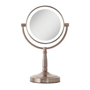 Alcott Hill Cordless Dual-Sided LED Lighted Makeup/Shaving Mirror