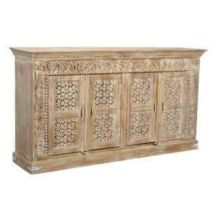Bungalow Rose Aveliss Brown Solid wood Sideboard