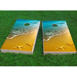 Custom Cornhole Boards Beach Starfish Theme Cornhole Game (Set of 2)