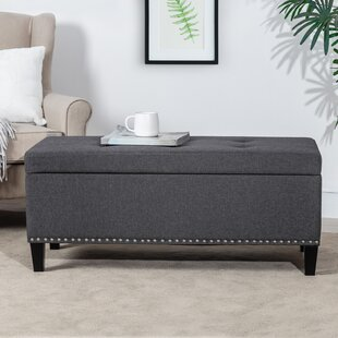 Marvelous Button Tufted Linen Storage Bench Ottoman With Nailhead Trim Alphanode Cool Chair Designs And Ideas Alphanodeonline