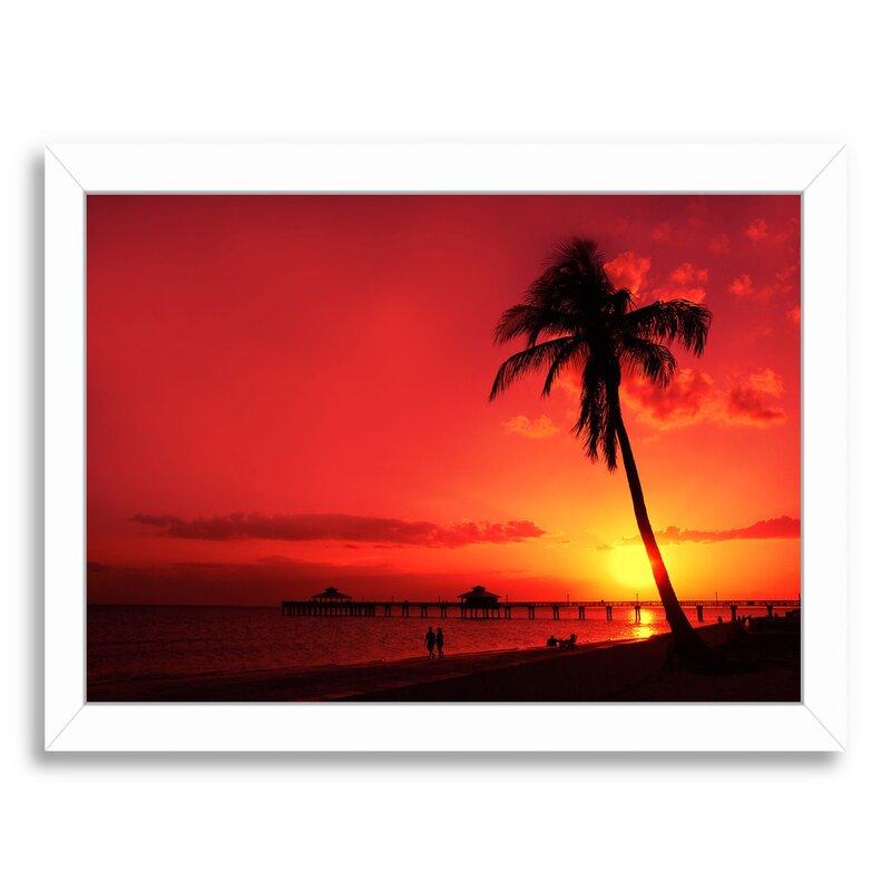 East Urban Home Romantic Sunset Framed Photographic Print Wayfair