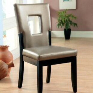 Kinzer Padded Upholstered Dining Chair (Set of 2) Wrought Studio