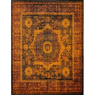 Order Bolton Terracotta/Black Area Rug By World Menagerie