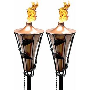 Matney 2 Metal Garden Torch (Set of 2)