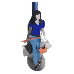 Shopaholic Silhouette 1 Bottle Tabletop Wine Rack by H & K SCULPTURES