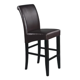 Elmo Bonded Leather Bar Stool | Wayfair