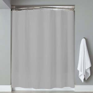 Grommets Magnets PVC Shower Curtain