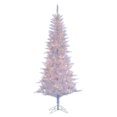 75 white tiffany tinsel artificial christmas tree with 450 clear white lights with stand - 75 White Christmas Tree