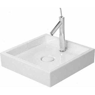 Affordable Starck 1 Ceramic Square Vessel Bathroom Sink By Duravit