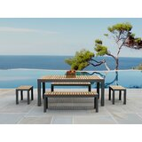 Adamina Rectangular 5 Piece Teak Dining Set