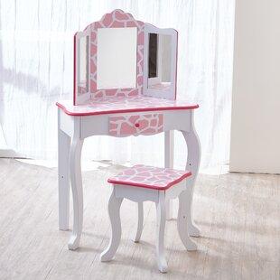 Gisele Kids Vanity Set With Mirror by Teamson Kids