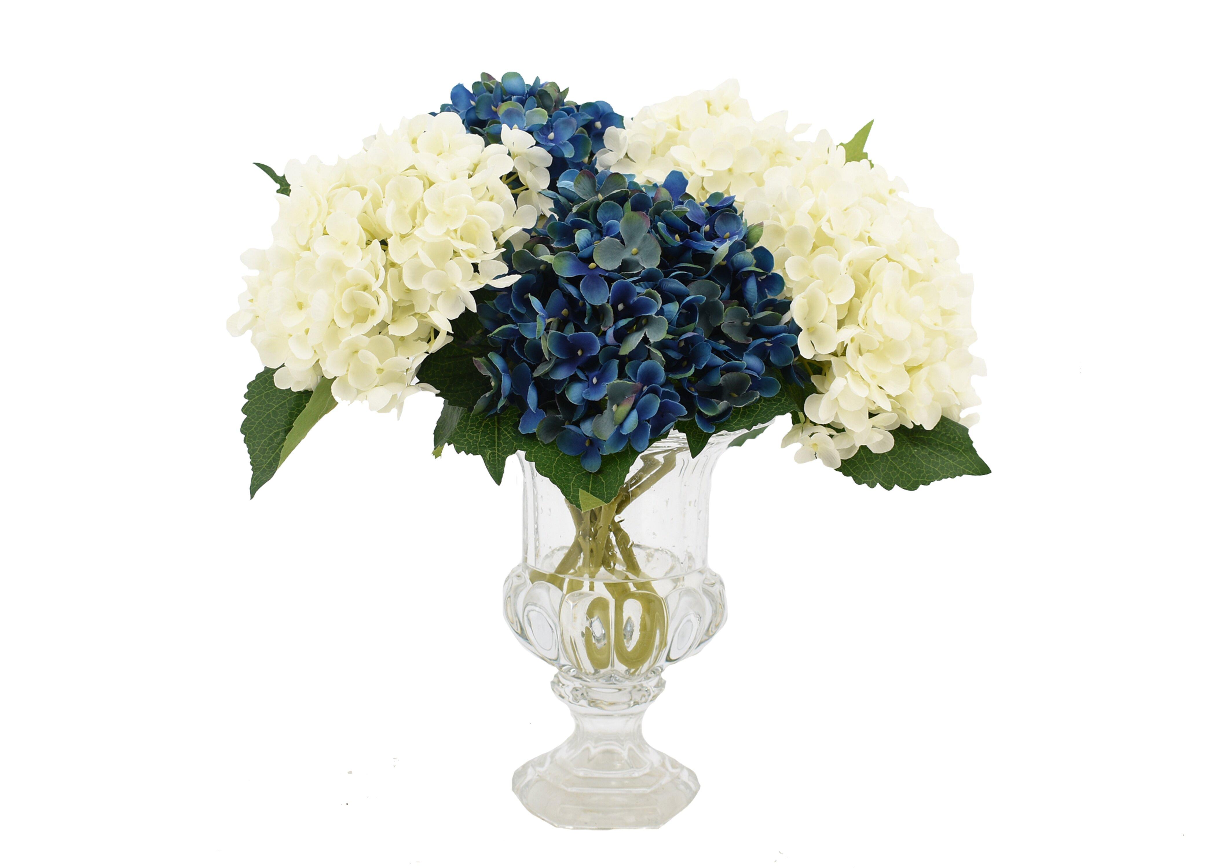 One Allium Way Peony And Hydrangea Mixed Floral Arrangements In Vase Wayfair