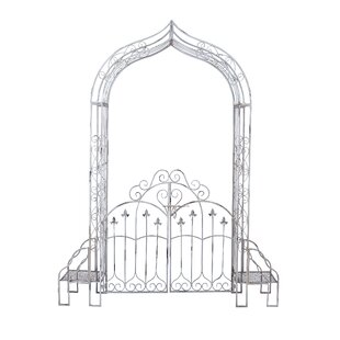 Cole & Grey Iron Arbor with Gates