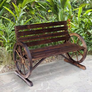 Kasandra Outdoor Wooden Garden Bench