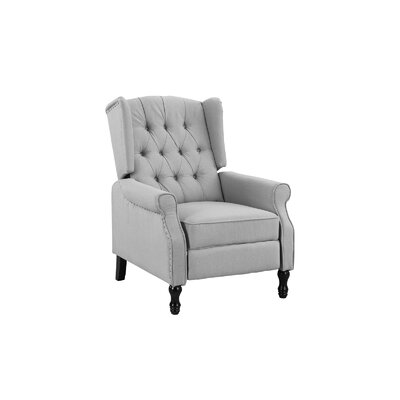 Eleni Tufted Manual Recliner Upholstery Color: Light Gray by Andover Mills