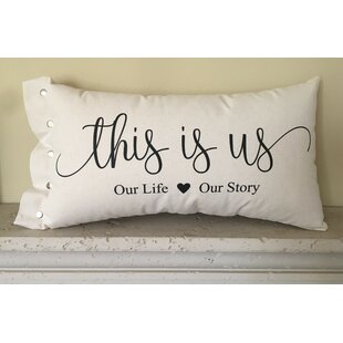 Creager This is Us Cotton Lumbar Pillow