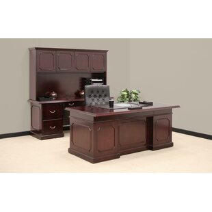 Darby Home Co Christofor 3-Piece Traditional Standard Desk Office Suite