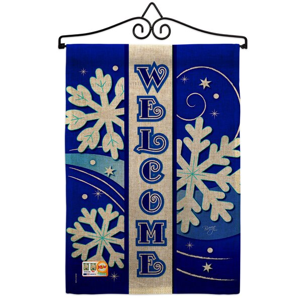 Breeze Decor Welcome Winter Wonderland Impressions 2 Sided Polyester 19 X 13 In Flag Set Wayfair