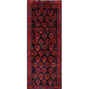 Check Prices One-of-a-Kind Furlong Bidjar Persian Traditional Hand-Knotted Runner 4'5 x 11'2 Wool Red/Black Area Rug By Isabelline