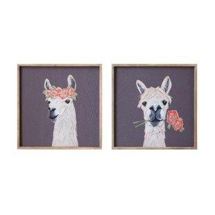 'Llama' Framed Print