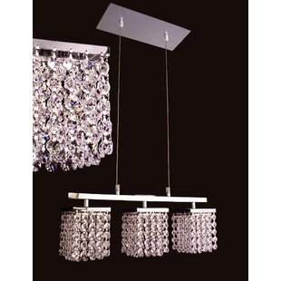 Classic Lighting Bedazzle 3-Light Kitchen Island Pendant