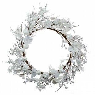 Festive 45cm Foliage And Fruits Range Christmas Wreath By The Seasonal Aisle