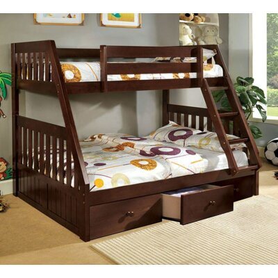 Twin over Full Bunk Bed with Underbed Storage A&J Homes Studio