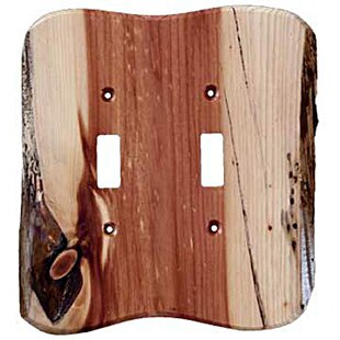 Rustic 2 Gang Toggle Light Switch Wall Plate