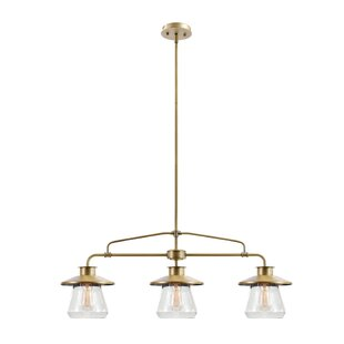 3 pendant light fixture hand blown glass lindberg 3light kitchen island pendant lighting youll love wayfair