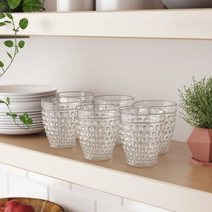 Conerly 12 oz. Glass Every Day Glasses (Set of 6)
