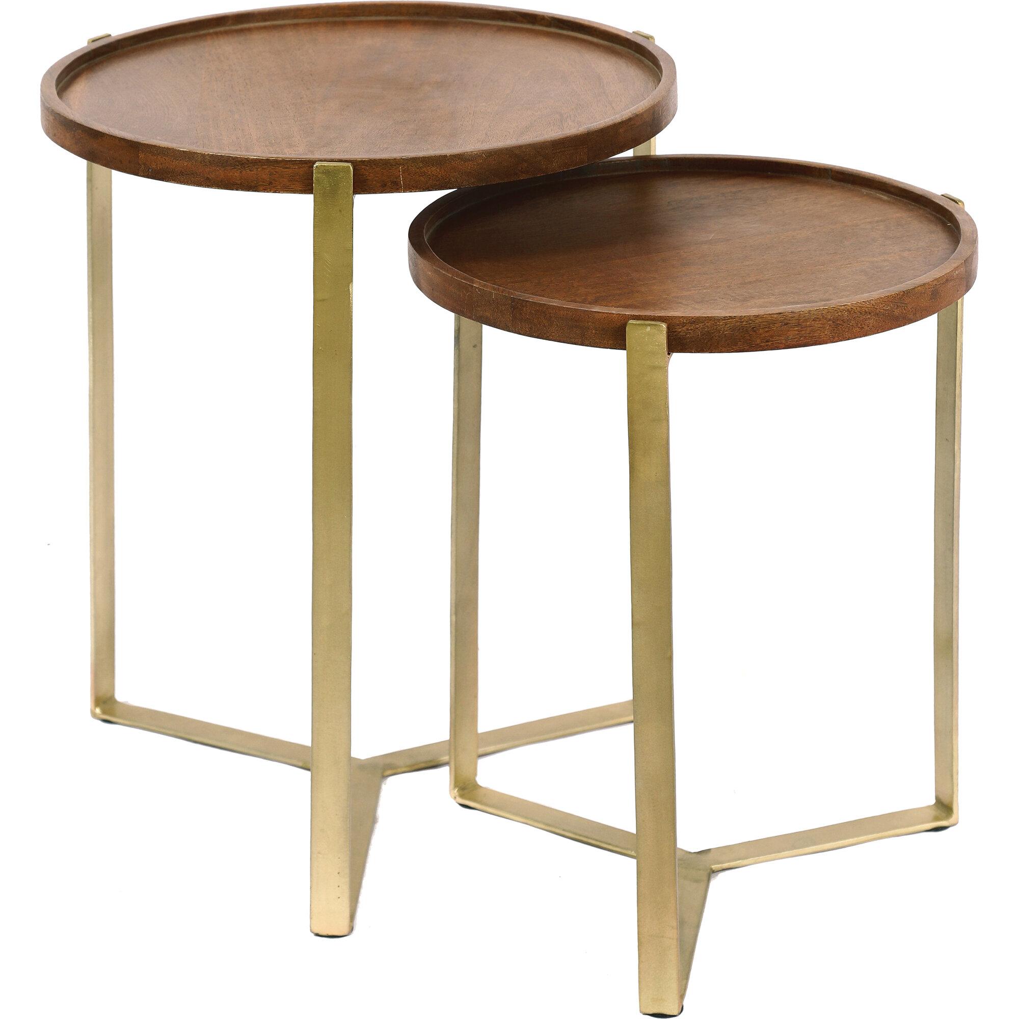 Everly Quinn Wideman 3 Legs End Table Wayfair
