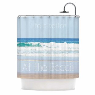 Life is Better at the Beach Single Shower Curtain