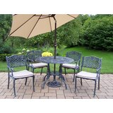 Robertsdale 6 Piece Dining set with Cushions and Umbrella