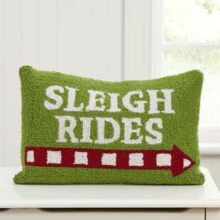 Josephson Sleigh Rides Hooked Pillow