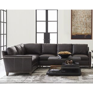 Carrera Left Hand Facing Leather Sectional By Lexington