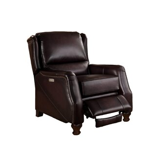 Kathrine Leather Power Recliner with USB Port by Canora Grey
