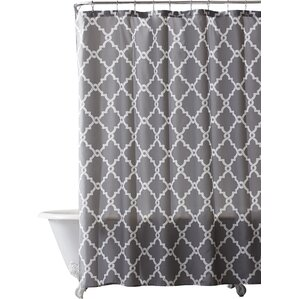 white and silver shower curtain. Alta Microfiber Shower Curtain Gray  Silver Curtains You ll Love Wayfair