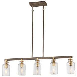 Williston Forge Alysa 5-Light Kitchen Island Pendant