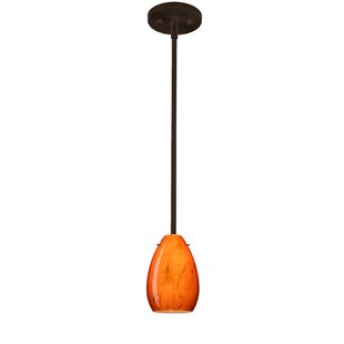 Pera 1-Light Cone Pendant by Besa Lighting