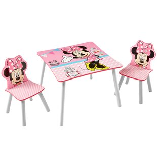 Elvira Children's 3 Piece Table And Chair Set By Mickey Mouse & Friends