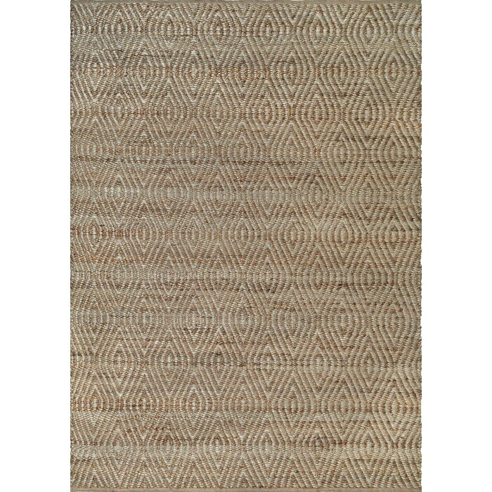 gracie oaks lai hand woven taupe area rug & reviews | wayfair.ca